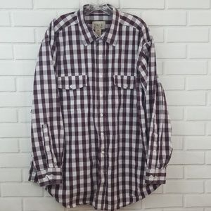 True Nation Plaid Checkered Button Down Shirt